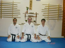 Aikido beginers with belt