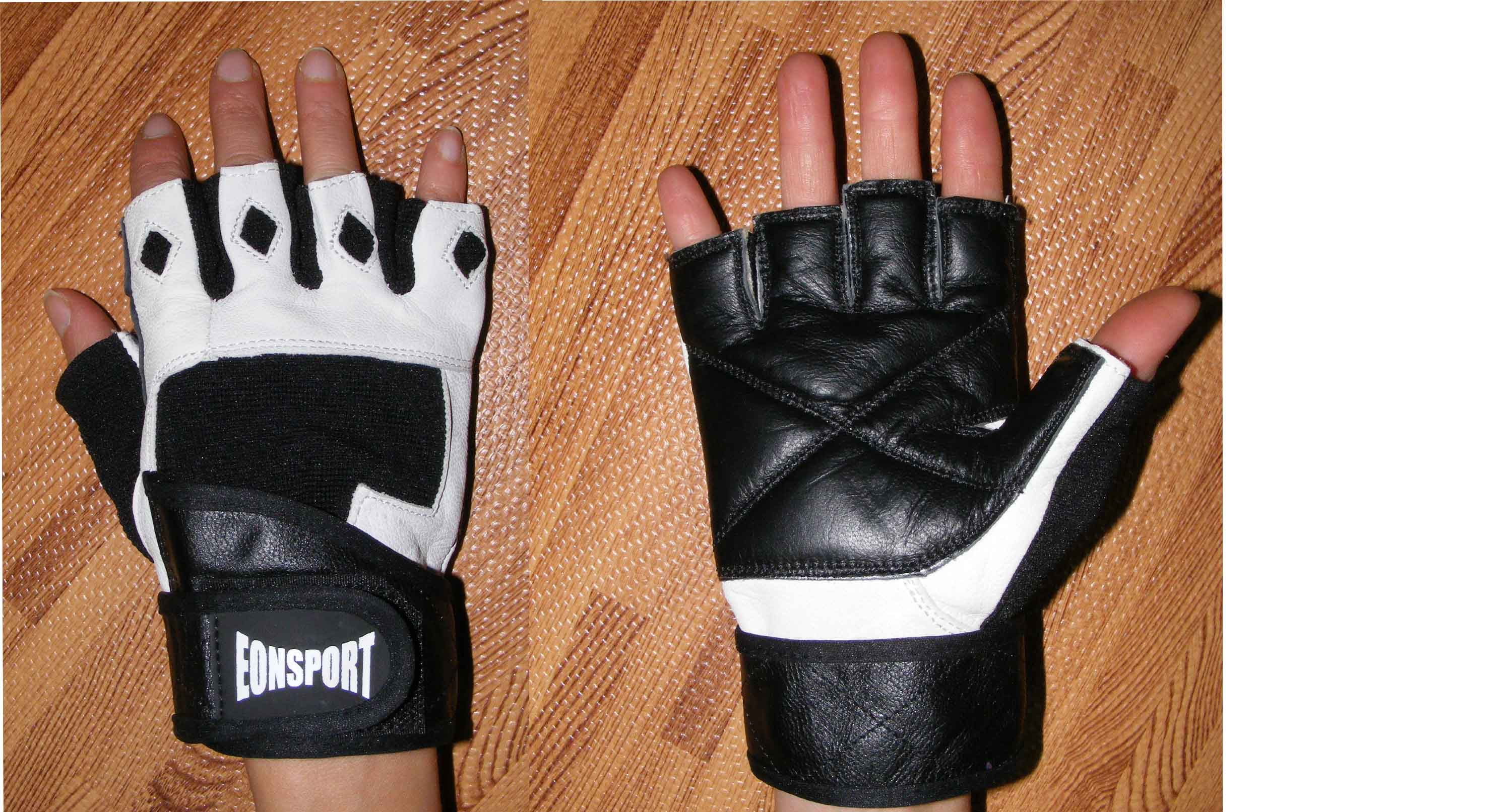 Fitness gloves -black and white-  XL